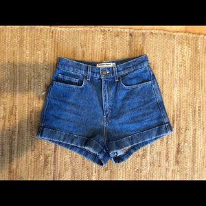 American apparel gently worn jean shorts